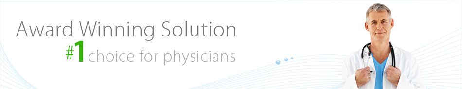 Award Winning Solution - No 1 choice for physicians
